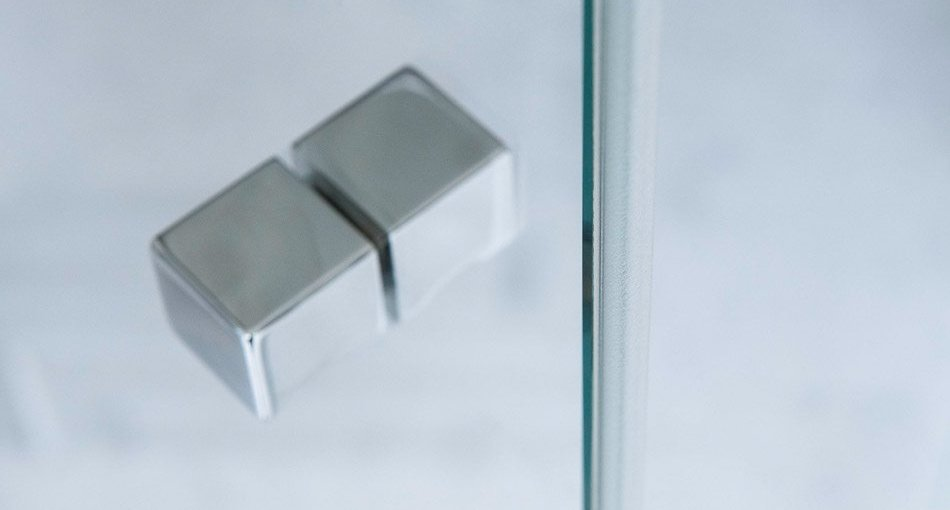 square shower door knob