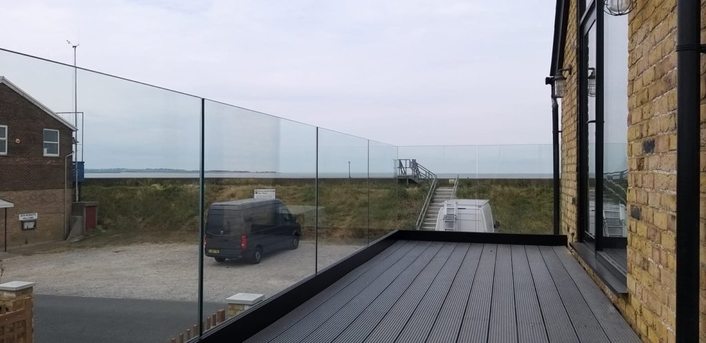 Decking Glass Balustrades